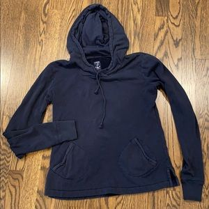 J. Crew Navy Blue cotton terry Hoody. Size small